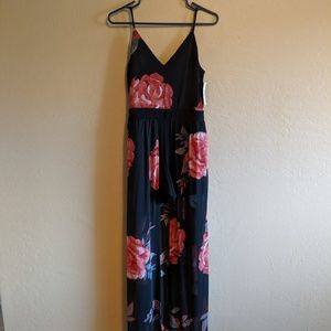 NWT floral romper w/skirt